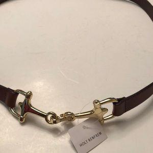Holt Renfrew horsebit buckle leather belt